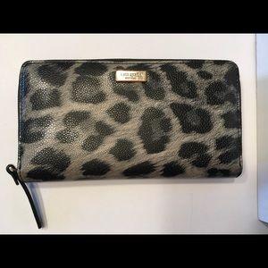 Kate Spade Wallet in Grey & Black Animal Print